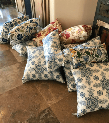 Pillows we use for staging