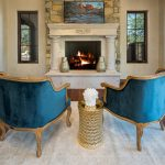 Master seating by fire - Whisper Rock Luxury Home For Sale