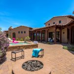 Firepit stools - Whisper Rock Luxury Home For Sale