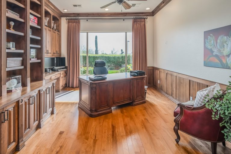 Private office off master suite
