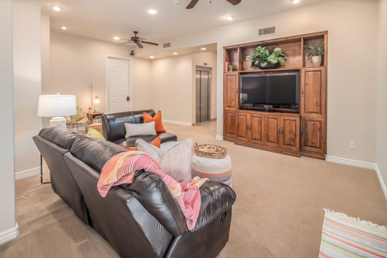 Basement living space in North Scottsdale