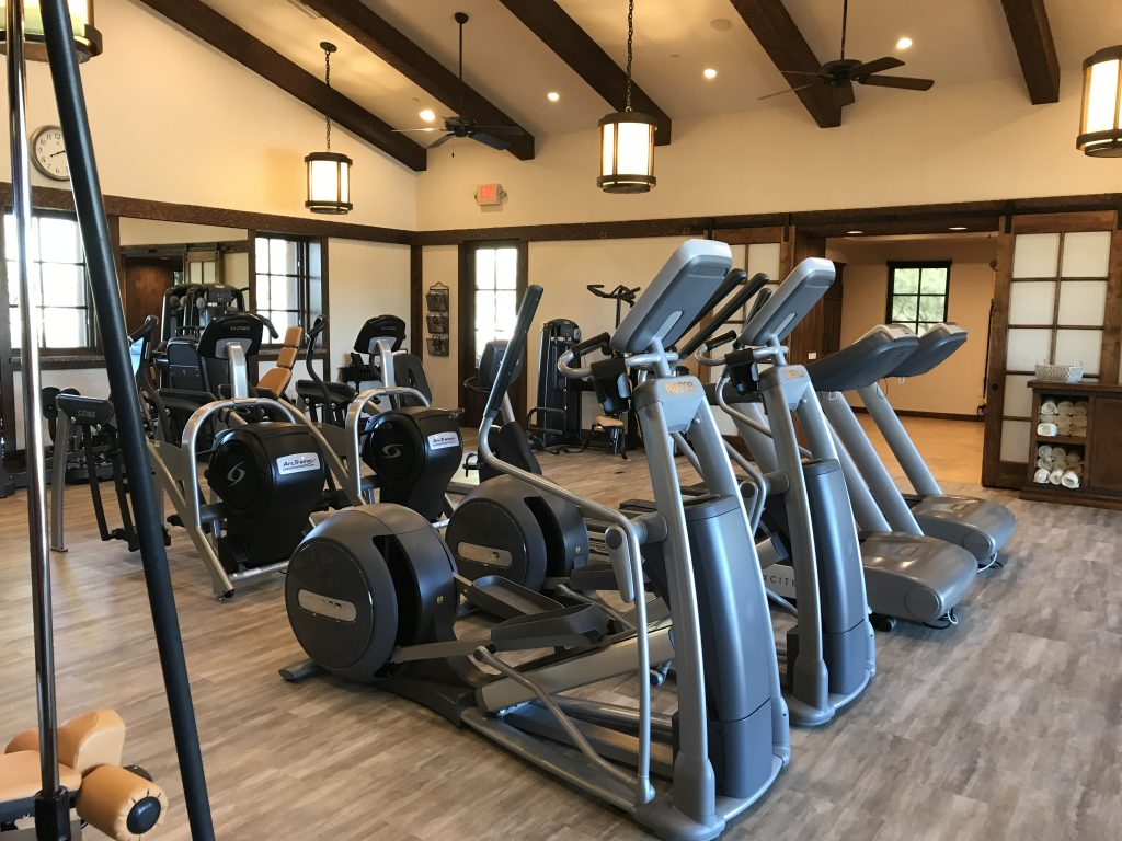 Whisper Rock workout area