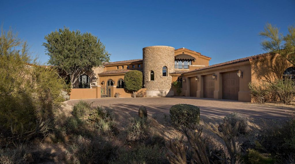 Tuscan style in Scottsdale - Whisper Rock Home For Sale