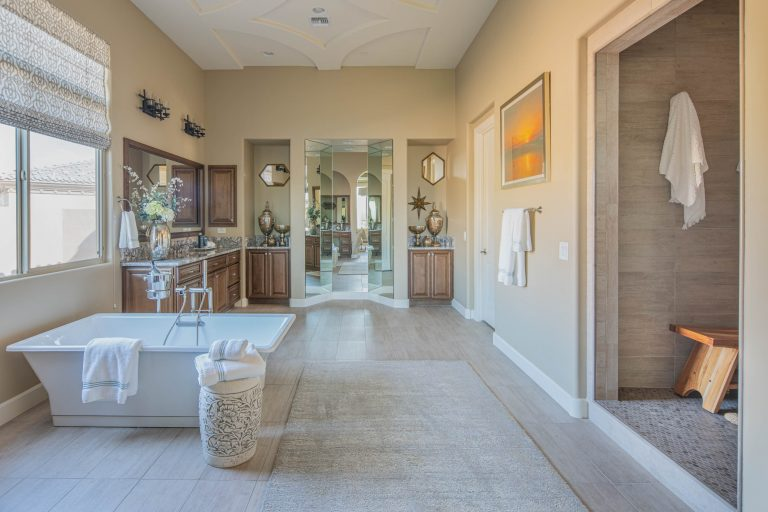 Spacious master bath in North Scottsdale