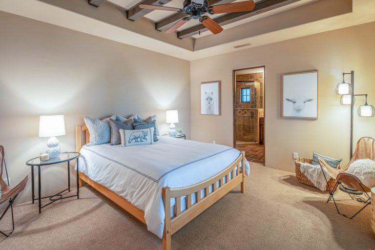 Casita bedroom and en-suite bathroom in North Scottsdale