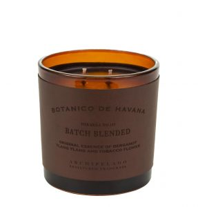 Enjoy the Archipelago Botanico de Havana Batch Blended candle when temps drop in North Scottsdale