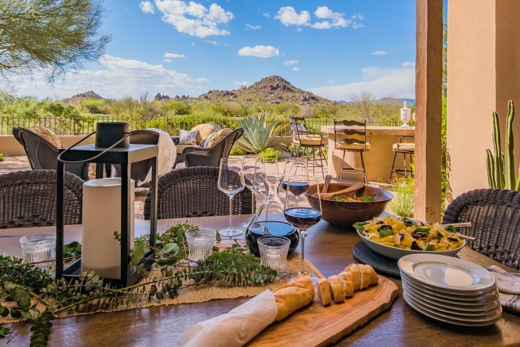 Staging your home is important when you are looking to sell - this home in Whisper Rock, North Scottsdale, staged by The Lifestyle Collection team.