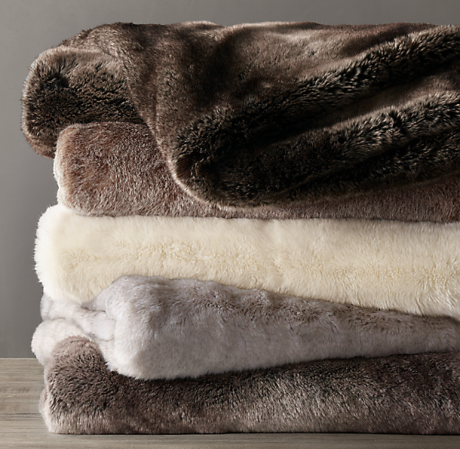Cozy up in a faux fur throw in North Scottsdale