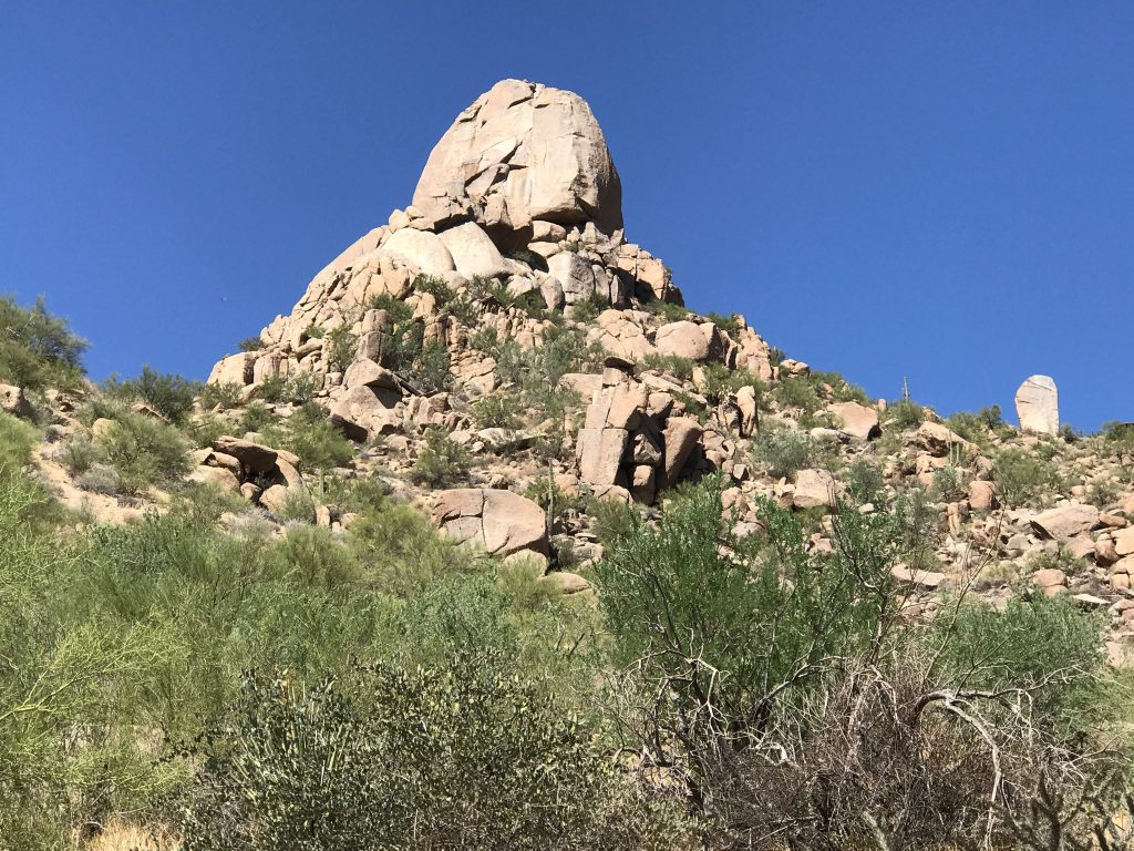 Pinnacle Peak an be viewed from most Desert Highlands Real Estate
