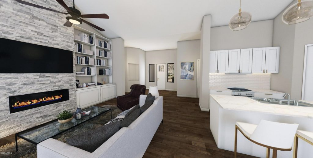 Rendering of Scottsdale area new build for sale